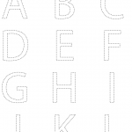 Printable alphabet tracing sheets for preschoolers