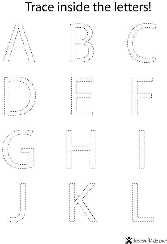 Printable alphabet tracing sheets for preschoolers