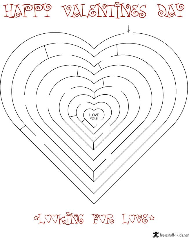 Printable Valentine Maze