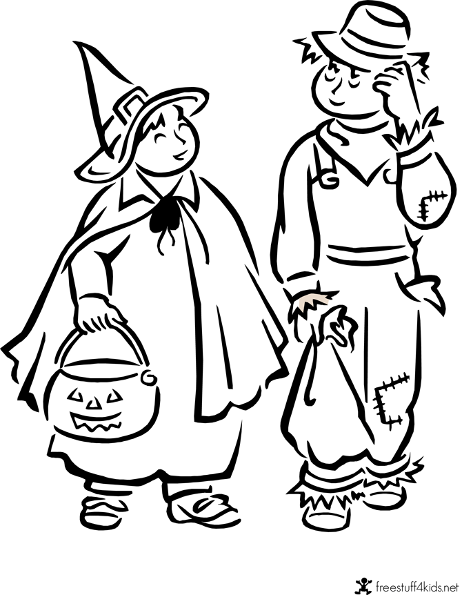 Free Halloween Costume Printable Coloring Sheets