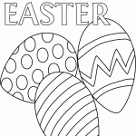 Two Easter coloring pages
