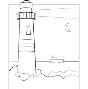 lighthouse coloring sheet
