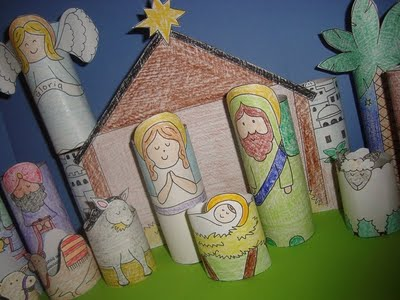 Print, Color and Build Your Own Nativity Scene