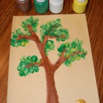 Make a thumbprint tree