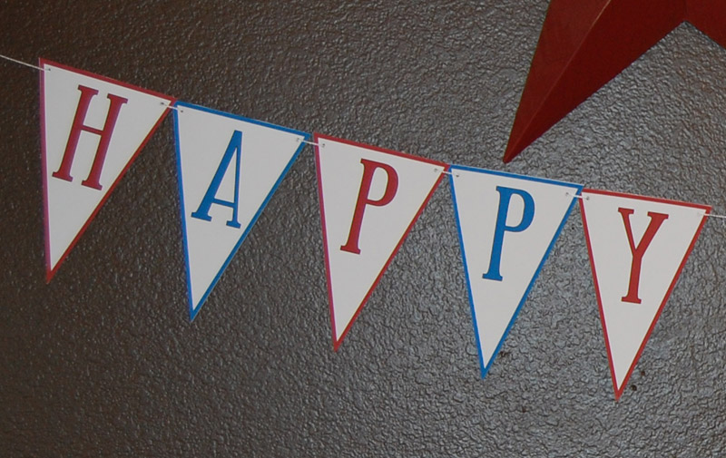 Free Printable Pennant Birthday Banner