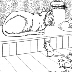Vintage Animal Coloring Sheets