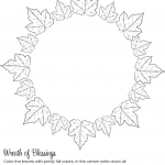 "Thankfulness ""Wreath of Blessings"" Printable"