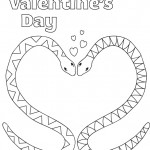 Valentine Snakes Printable Coloring Page