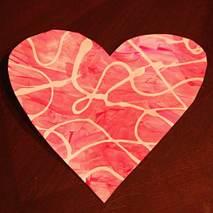 Paint a Pretty Swirly Valentine