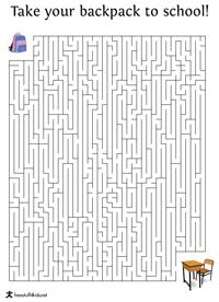 Back to School Maze