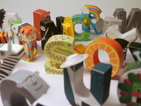 Awesome Papercraft Alphabet