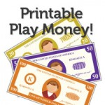 More Printable Play Money