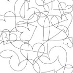 Tangle of Hearts Coloring Sheet