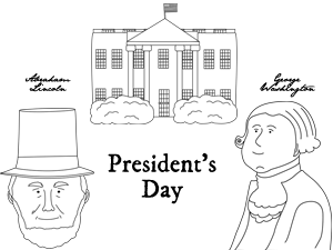 President's Day Coloring Sheet