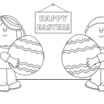 Printable Easter Egg Coloring Sheet