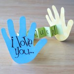 I Love You Handprint Card