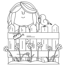 Spring Flowers and Butterflies Coloring Sheets