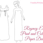 Regency Era Printable Paper Dolls