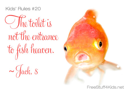 Rules for Kids Fish