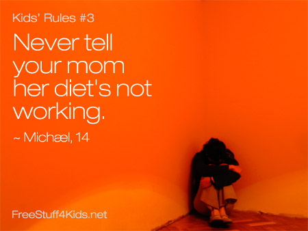Rules for Kids Diet