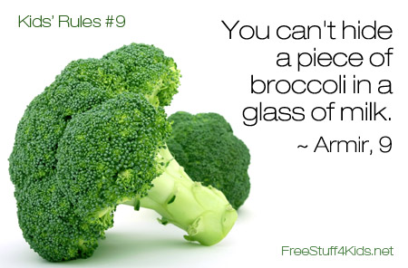 Rules for Kids Broccoli